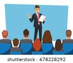 business seminar  vector... | Shutterstock .eps vector #678228292