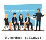 business seminar  vector... | Shutterstock .eps vector #678228295