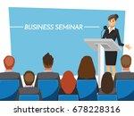 business seminar  vector...   Shutterstock .eps vector #678228316