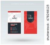 modern creative vertical red... | Shutterstock .eps vector #678248125
