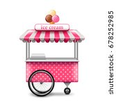 ice cream cart isolated on... | Shutterstock .eps vector #678252985