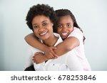 portrait of a daughter... | Shutterstock . vector #678253846