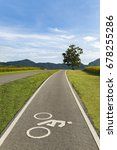 scenery bicycle lane on a hill...   Shutterstock . vector #678255286
