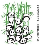 panda bear illustration vector... | Shutterstock .eps vector #678263365