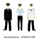 navy captain uniform. vector... | Shutterstock .eps vector #678267238