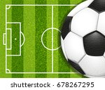 soccer football field and... | Shutterstock .eps vector #678267295