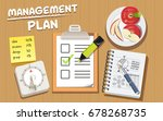 management for work and study... | Shutterstock .eps vector #678268735