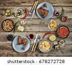 concept of home food.... | Shutterstock . vector #678272728