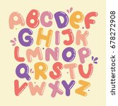 english alphabet vector ... | Shutterstock .eps vector #678272908
