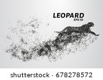 leopard of particles. the... | Shutterstock .eps vector #678278572
