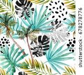 nature seamless pattern. hand... | Shutterstock . vector #678278776