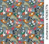 seamless vector pattern for... | Shutterstock .eps vector #678281776