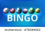 bingo lottery balls background. ...   Shutterstock .eps vector #678284062