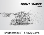 front loader from the particles....