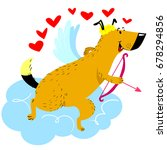 valentine's day dog character.... | Shutterstock .eps vector #678294856