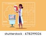 female african american doctor... | Shutterstock .eps vector #678299026