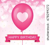 birthday greeting card vector... | Shutterstock .eps vector #678299272