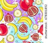 seamless pattern different... | Shutterstock .eps vector #678301852