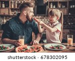 cute little girl and her... | Shutterstock . vector #678302095