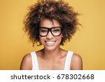 young beautiful african... | Shutterstock . vector #678302668