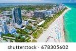 aerial view of miami beach ... | Shutterstock . vector #678305602