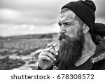 man hipster or guy with beard... | Shutterstock . vector #678308572