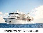 cruise ship. large luxury white ...   Shutterstock . vector #678308638