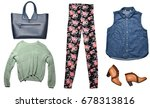 combination of women's clothes... | Shutterstock . vector #678313816