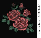 stylized vector roses isolated... | Shutterstock .eps vector #678328582
