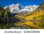 Maroon Bells Surrounded By Fall ...