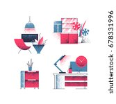 vector set of interior... | Shutterstock .eps vector #678331996