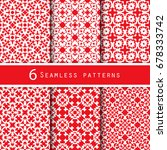 a pack of vintage pattern... | Shutterstock .eps vector #678333742