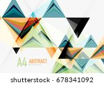 triangular low poly vector a4... | Shutterstock .eps vector #678341092
