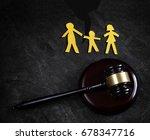family of three split apart ... | Shutterstock . vector #678347716