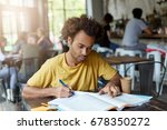headshot of attractive stylish... | Shutterstock . vector #678350272