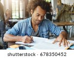 portrait of smart hardworking... | Shutterstock . vector #678350452