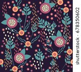 seamless pattern with cute... | Shutterstock .eps vector #678350602