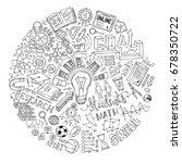 vector doodles concept of... | Shutterstock .eps vector #678350722