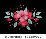 colorful ethnic floral pattern... | Shutterstock .eps vector #678359032