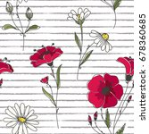 vector floral seamless pattern. ... | Shutterstock .eps vector #678360685