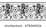 seamless border in indian style.... | Shutterstock .eps vector #678364426