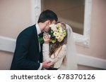 a stylish elegant bride with...   Shutterstock . vector #678370126