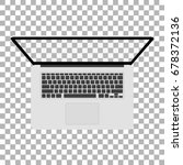 laptop with blank screen ... | Shutterstock .eps vector #678372136