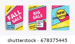 sale website banner template....   Shutterstock .eps vector #678375445