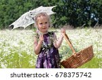 Happy Little Girl With Sun...