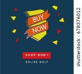 3d buy now | Shutterstock .eps vector #678376012