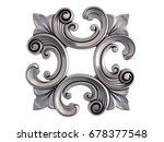 chrome ornament on a white... | Shutterstock . vector #678377548