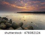 view of jakarta city north... | Shutterstock . vector #678382126