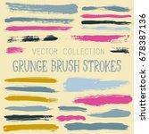 paint dabs  artistic graffiti... | Shutterstock .eps vector #678387136