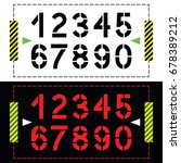 set of numbers in classic... | Shutterstock .eps vector #678389212